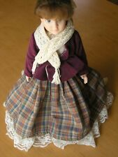 Gorgeous Vintage Bisque Porcelain Doll Plaid Skirt 13 Inches Rn ? Pw ? Pr 136-95