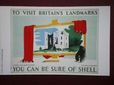 POSTCARD  SHELL POSTER -  DINTON CASTLE TO VISIT BRITAINS LANDMARKS - YOU CAN BE