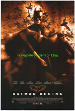 BATMAN BEGINS MOVIE POSTER ORIGINAL DS 27x40 FINAL STYLE 2005 CHRISTIAN BALE