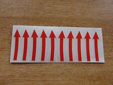 Red-flechas direccionales-Rueda calcomanías/Pegatinas-Conjunto de 10
