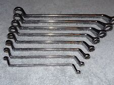 8 WURTH VINTAGE DEEP OFFSET BOX WRENCH SET METRIC 12 PT GERMANY CHROME VANADIUM