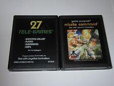 Atari 2600 Lot Of 2 Games - Target Fun, Missile Command