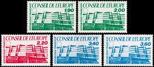 ✔️ FRANCE 1986/87 EUROPEAN COUNCIL HEADQUARTERS SC.1O40/1O44 MNH OG [FRO.40/44]
