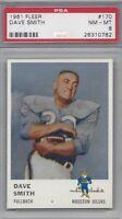 1961 Fleer AFL football card #170 Dave Smith, Houston Oilers PSA 8 NMMT