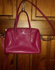 COACH F550430 Plum Mini Bennett Leather Satchel Crossbody Bag MSRP$228