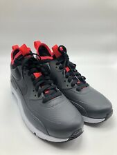 Nike Air Max 90 Ultra Mid Mens Size 10 Anthracite Black Solar Red 924458 003