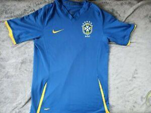 BRAZIL AWAY NATIONAL TEAM JERSEY NIKE 2008-2010 SIZE S