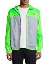 d15793aee12cd New Balance Men's Medium Lime Green Windcheater Hooded ultra lightweight  Jacket