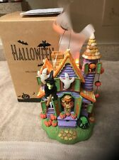 Animated Halloween House Decorations Spooky Sounds Light