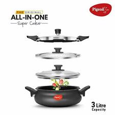 Pigeon Multi Cooking Pot Induction & Gas Kadai Hard Anodised 3 Ltr Indian Handi