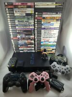 SONY PLAYSTATION 2 PS2 FAT CONSOLE LOT BUNDLE WITH 62 GAMES &1-8 Memory  Card
