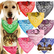 Cute Small Medium Large and Extra Large pet cat dog Bandana Collars PU Leather