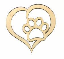 Dog Love Unfinished Wood Shape Cut Out D11406 Crafts Lindahl Woodcrafts