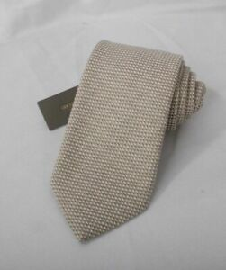 NEW TOM FORD Neck Tie SILK Brown & Black Zig Zag with Ivory Dots TFN64