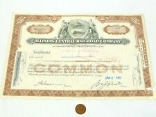 More details for 1965 illinois central railroad company one share certificate