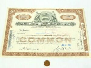 1965 Illinois Central Railroad Company One Share Certificate