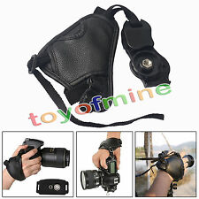 New Camera Hand Wrist Strap Leather for Canon EOS Nikon Sony Olympus SLR /