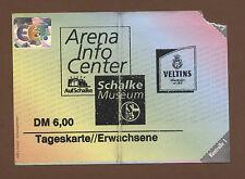 Orig.Ticket    FC SCHALKE 04 - Schalke Museum  //  90ziger Jahre  !!