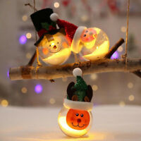 Christmas Hanging Ball Light Santa Claus Snowman Elk Xmas Tree Decor Kids Gifts