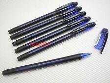 6 x Uni-Ball Jetstream SX-101 0.7mm Quick Drying Super Ink Rollerball Pens, Blue