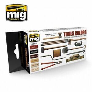 Ammo MIG 7112 - Acrilico Colore Set (6x 17ml) - Attrezzo Colori (17,63 €/100ml )