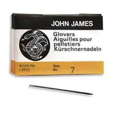 25 SIZE SEVEN (#7) John James English GLOVERS NEEDLES - Perfect for Leather!