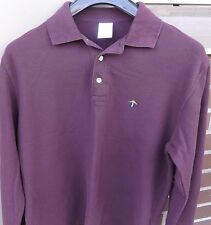 BROOKS BROTHERS Mens Original Fit 3 Button Long Sleeve Polo Embroidered Logo Med