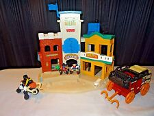 1996 Fisher Price Great Adventures Wild Western Town & Accessories 77052 RETIRED