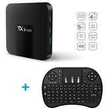 mini TX3 2+16G Android 7.1 Smart TV Box S905W Quad Core 4K WiFi 3D HD + Keyboard