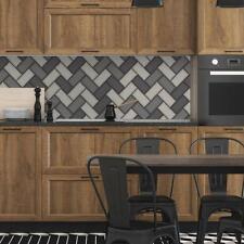 Wallpaper Holden Chevron Tile Glitter 3d Geometric Kitchen Bathroom Grey 89302