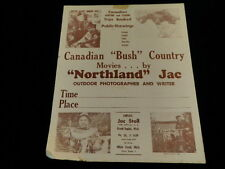Vtg Hunting Fishing Canadian Bush Country Northland Jac 1960's Movie Poster A83z