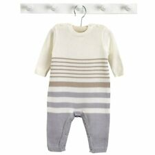 Natures Purest Stripe Organic Cotton All in One Grey & Mink Striped 3-6 Mths