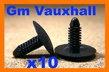 10 Vauxhall GM fascia trim panel bonnet hood insulation retainer fastener clips