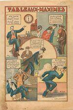 Caricature Tableaux Maximes Rond de Cuir Fonctionnaires Ministères Paris 1933