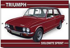 Triumph Dolomite Sprint Metall Schild Vintage Auto Klassische