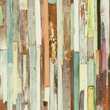Rasch Textil Tapete Holzoptik bunt Tapeten NewAge 319919 (2,77€/1qm)