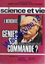 Science et vie n°563 du 08/1964 Hérédité Généttique Brésil Vol à voile