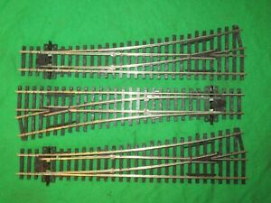 Peco OO gauge 3 sets SL-96XX L/H medium Radius points VGC