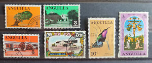 Anguilla 6 stamp selection USED