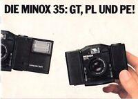 DIE MINOX 35: GT, PL und PE! - Prospekt - B1952