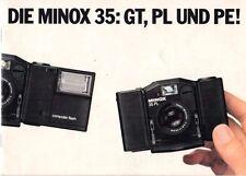 La Minox 35: GT, PL e PE! - Prospekt-b1952