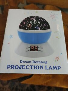 Dream Rotating Projection Lamp Starry Sky Color Changing Rotating With Timer
