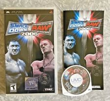 WWE Smackdown Vs Raw 2006 SONY PSP Complete w/ Manual TESTED Free Shipping! VG