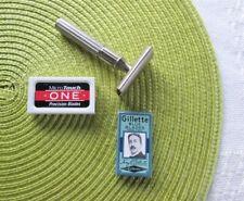 Vintage Gillette Tech Razor Pre-War Safety Dbl Sided 9 Blades Vanity Arrow Sign