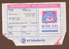 Orig.Ticket   1.Bundesliga  93/94   FC SCHALKE 04 - 1.FC KÖLN  !!  SELTEN