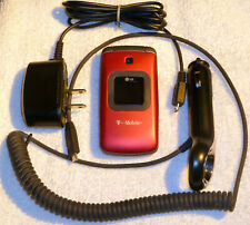 Lg Gs170 - Red (T-Mobile) Cell Flip Phone Clamshell Bundle - Excellent Condition
