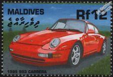 1995 PORSCHE 911 CARRERA 993 Mint Automobile Sports Car Stamp (2000 Maldives)