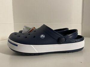 NEW UNISEX Crocs Crocband II Clogs Shoes : Size 5 MENS / Size 7 WOMENS Navy Blue
