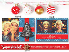 Printable Photo Christmas Card - Custom Holiday Greeting Card - Christmas Cards