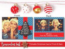 Printable Photo Christmas Card - Custom Holiday Greeting Card - Christmas Cards